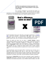 Oxyelite PRO e Oxylin PRO são suplementos bastante parecidos