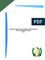 Propuesta desde la comunidad normalista para la Formación Inicial Docente 020812