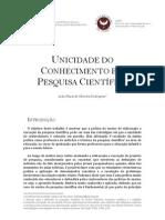 UNICIDADE DO CONHECIMENTO E A PESQUISA CIENTÍFICA