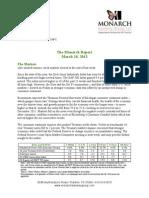 The Monarch Report 3/18/2013