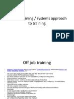 BL2 off job training