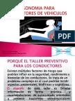 Presentación TALLER ERGONOMIA CONDUCTORES