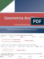 Geometria Analítica_1aLista-Exs