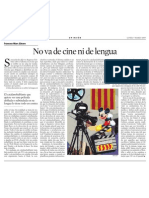 Francesc-Marc Álvaro. No Va de Cine Ni de Lengua