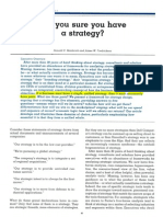 Are You Sure You Have a Strategy - Hambrick & Fredrickson 2001