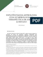 INFLUÊNCIAS DA ASTROLOGIA E DA NUMEROLOGIA NA TERAPÊUTICA DE AMATO LUSITANO