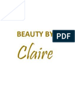Beauty by Claire Price List 2013