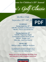 Golf Tournament Poster for Grandfather Home for Children
