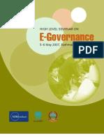 2007.11.28.Book.high.Level.seminar.egovernance