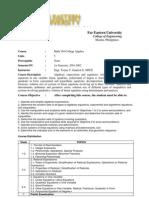 Math 104 (College Algebra) Syllabus