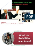 PTI's Differently-abled Policy