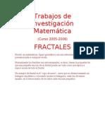 Trabajos de Investigación Matemática