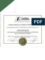 Certificado UNICA - Aura Camilo