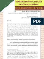 FERDINAND DENIS E A FORMAÇÃO DE LITERATURA BRASILEIRA
