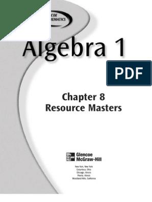 algebra 8-1studyguide | Exponentiation | Educational Assessment