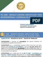 Itg 1000 - Modelo Contabil Simplificado Para Microempresa e Empresa de Pequeno Porte