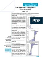 Panorama Económico Departamental - Julio 2011