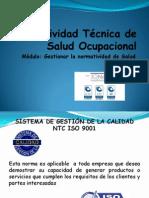 Normatividad Tecnica en Salud Ocupacional