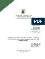 Estudio comparativo para modelos predictivos del ruido de tráfico rodado, a través de mediciones in situ en un sector de la ciudad de Osorno