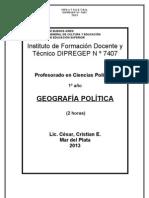 Proyecto de Geografia Politica 2013