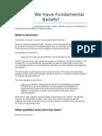 Should We Have Fundamental Beliefs?