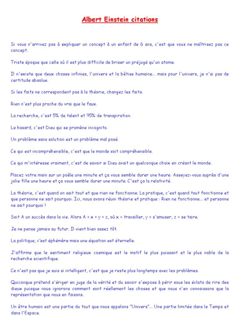 Albert Einstein Citations