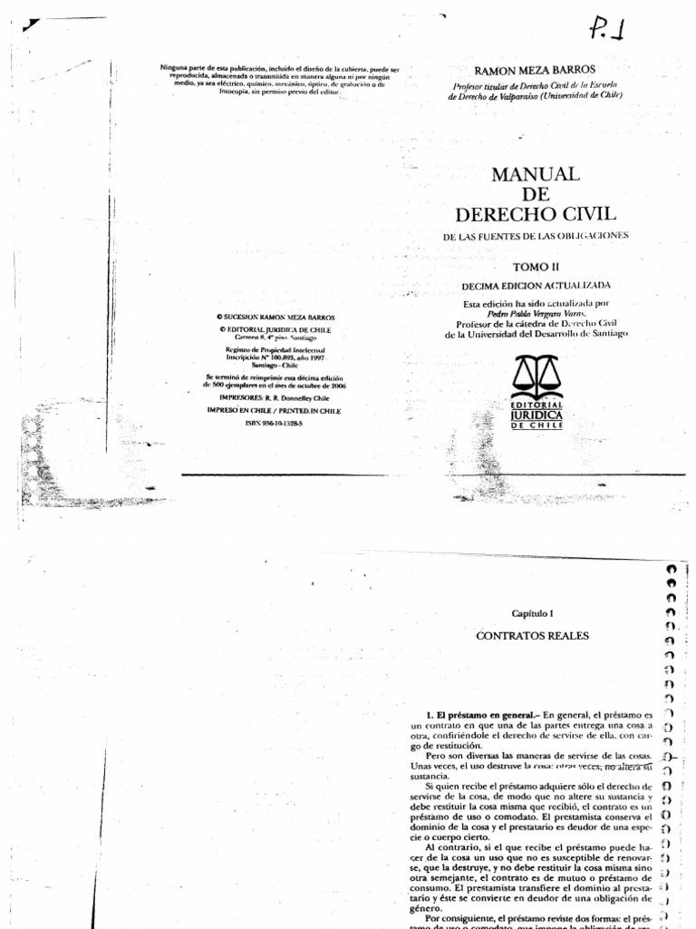 Meza Barros, Ramón. Manual de Derecho Civil. De las Fuentes de las ...