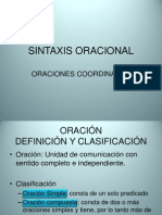SINTAXIS ORACIONAL. ORACIONES COORDINADAS.pptx