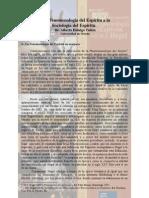 De La PhdesG a La Sociol Del Espiritu