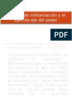 30 años de militarizacion y el ejercito eje del poder