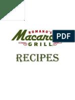 Romano's Macaroni Grill Recipes