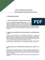Preguntas Frecuentes ImplementaciOn PIE2013