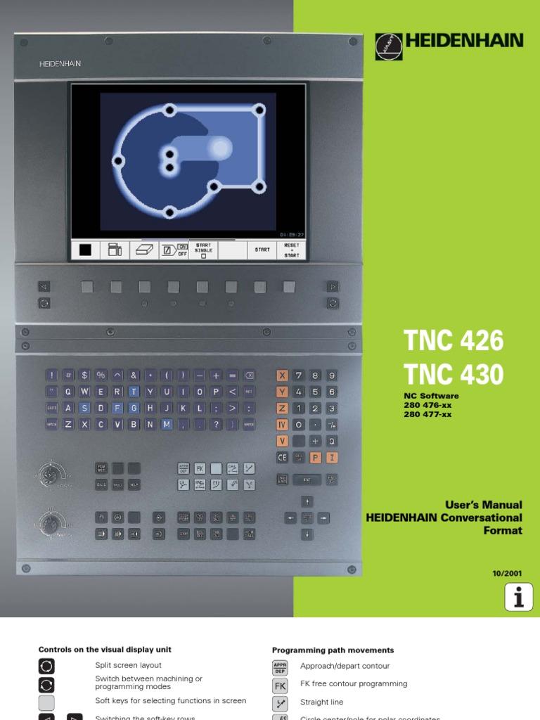heidenhain 426 430 tnc manual 2001 computer keyboard computer file rh scribd com Heidenhain Encoder Heidenhain Encoder