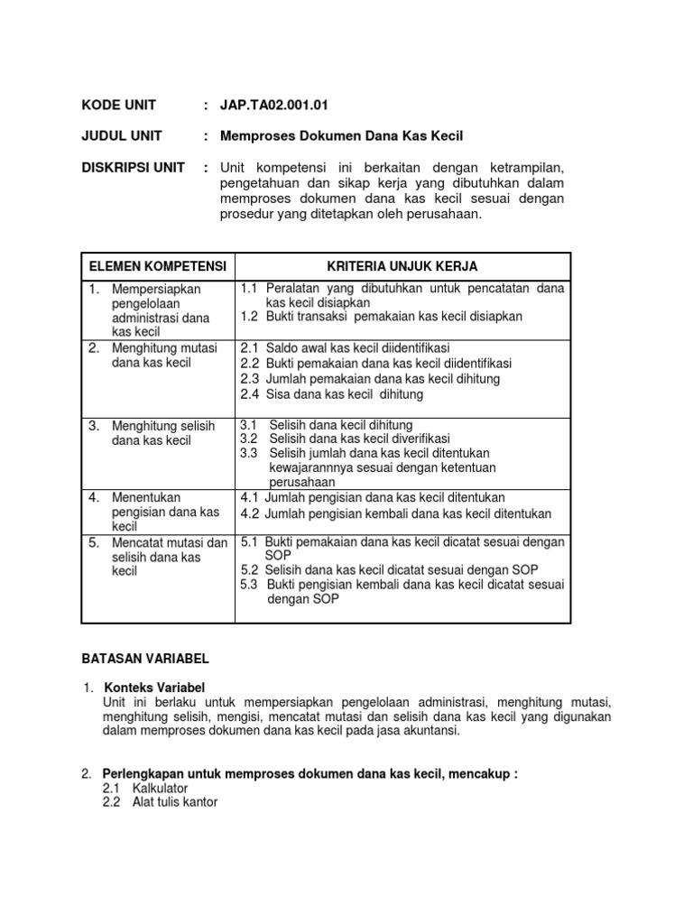 Memproses Dokumen Dana Kas Kecil