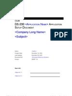 Ds-030 Application Setup Document Template