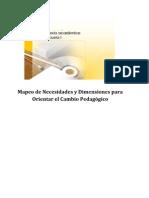 Producto 1 Mapeo de Necesidades y Dimensiones para Orientar el Cambio Pedagógico