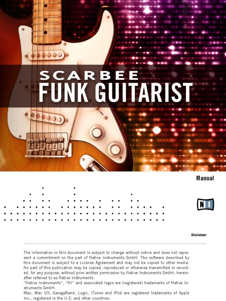 Scarbee Funk Guitarist Manual Chord Music Bass Guitar