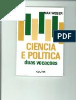 MAX WEBER CIENCIA E POLÍTICA - CAPA E INTRODUÇÃO