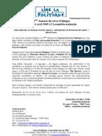 60 - CP Journée Du Livre Politique 2009