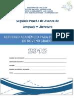 Segunda Prueba de Avance de 9º Grado -  Lenguaje y Literatura