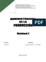 Administracion de La Produccion Unidad i