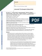 Innate or Adaptive Immunity the Example of Natural Killer