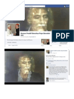 Roman Pontiff Emeritus Pope Benedict XVI and The Returned Christ Brian Leonard Golightly Marshall