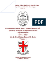 5144649 Documents Ecclesiastiques Lettres Roger Caro Vol 1