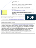 Extraversion Sociability and Impulsivity