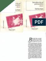 Introducciòn al Psicoanálisis  CARLOS KURI