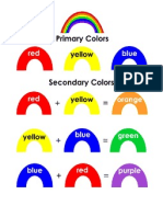 Color Mixing Poster - Primary & Secondary Colors.