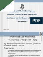 2013 Teoria de La Organizacion Aportes Sociologos Ingenieros