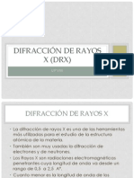 Difracción de Rayos X (DRX)2