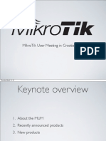 MikroTik User Meeting in Croatia, 2013